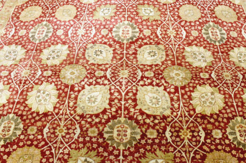 9X12 1960's MINT HAND KNOTTED 400+KPSI VEGETABLE DYE WOOL TABRIZZ ORIENTAL RUG