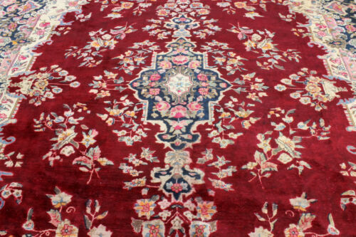 9X12 AUTHENTIC ANTIQUE HAND KNOTTED VEGETABLE DYE WOOL KERMANN DISTRESSED RUG