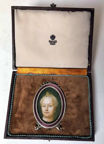 FABERGE Antique Imperial RUSSIAN Enamel Photo Frame, 84 silver.