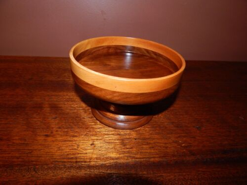 Mid-Century Modern, Hand Turned. Walnut Bowl, Completely Refinished. 1950's.