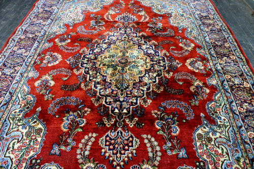 8X12 1940's SPECTACULAR RARE FINE ANTIQUE HAND KNOTTED SAROUKK MAHALL WOOL RUG