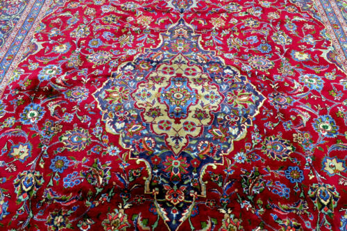 10X13 MASTERPIECE MINT 200+KPSI HAND KNOTTED VEGETABLE DYED MASHADD ORIENTAL RUG