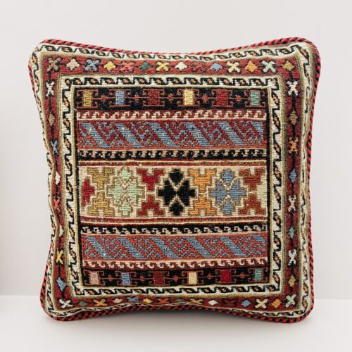 Authentic Kilim Rug Vintage Hand Made Throw Pillow Case Cover AF14