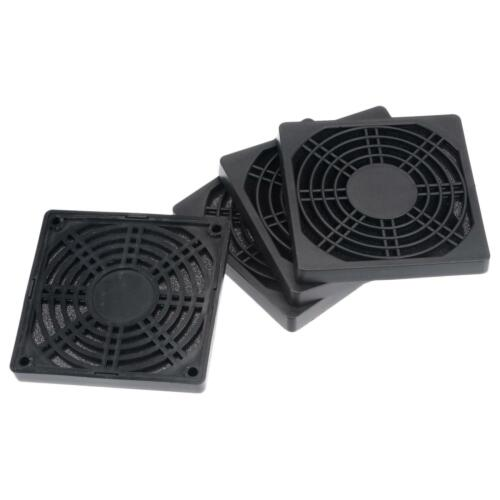 PC Fan Protector Dust Filters with Screws for Cooling Case Cover PVC 95mm 4pcs