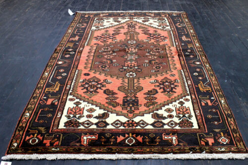4X7 MASTERPIECE MINT HAND KNOTTED HQ VEGETABLE DYE MALAYERR ORIENTAL WOOL RUG
