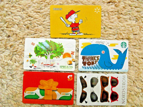 Gift Cards, Collectible, five cards, new, unused, no value on the cards     (JV)