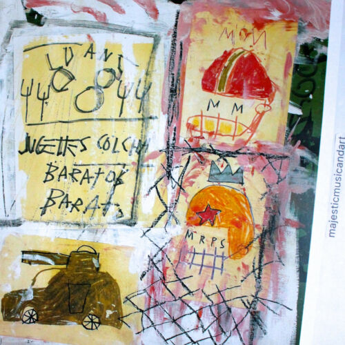 JEAN-MICHEL BASQUIAT 2002 ITALY EXHIBITION LITHOGRAPH POSTER