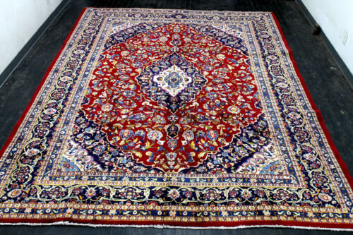 9X12 MAGNIFICENT FINE 200+KPSI HAND KNOTTED VEGETABLE DYED MASHADD ORIENTAL RUG