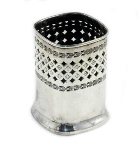 Vintage WALKER & HALL EPNS silver plated pierced small pot
