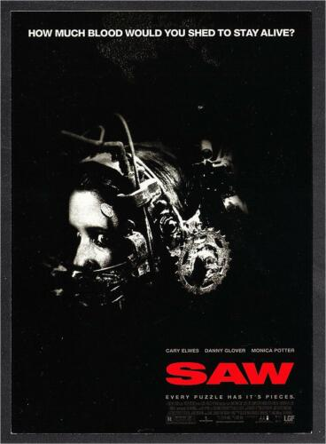 Postcard of Saw 2004 Horror Movie - How Much Blood Would You Shed To Stay Alive