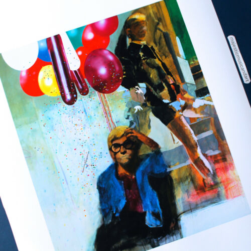 PORTRAIT OF DAVID HOCKNEY by PETER BLAKE 2007 LITHOGRAPH POSTER