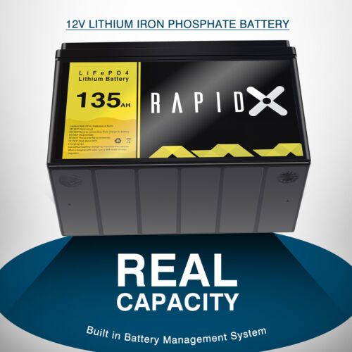 100AH 12V Lithium Iron Phosphate Battery LiFePO4 Replace AGM Battery 4WD RV