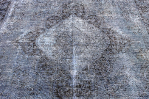 8X11 FINE HAND KNOTTED ANTIQUE REVIVAL VEGGIE DYED WOOL TABRIZZ DISTRESSED RUG