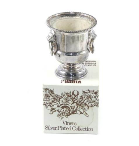 Vintage Viners silver plated Prince William's miniature wine cooler urn in box