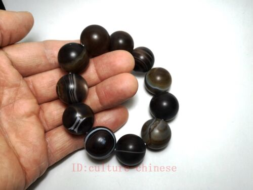 Collected Ancient China Tibet Old Agate Manual Sculpture Beautiful Hand Catenary