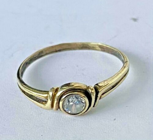 FABERGE Antique Imperial RUSSIAN Gold Ring with Diamond stone , 56 gold
