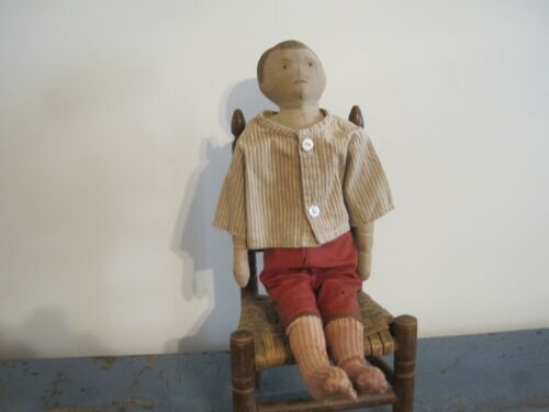 Old Primitive Boy Cloth Rag Doll and He was Found in New England AAFA