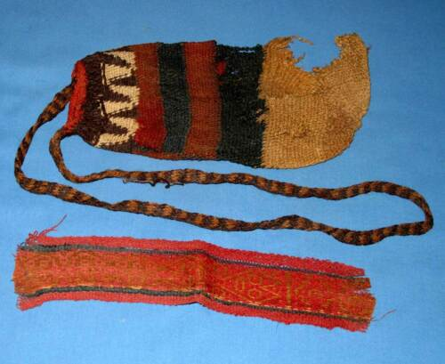 Pre-Columbian Nazca Belt Segment and Utility Bag - Foliophiles Collection