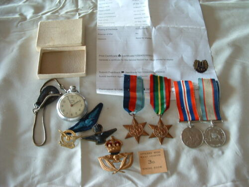 WW11 RAAF MEDAL GROUP ,BADGES , PATCHES1939 - 1945 (WWII) - 13977