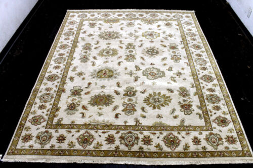 8X10 BREATHTAKING MINT NEW HAND KNOTTED HQ WOOL VEGETABLE DYE OUSHAK TURKISH RUG