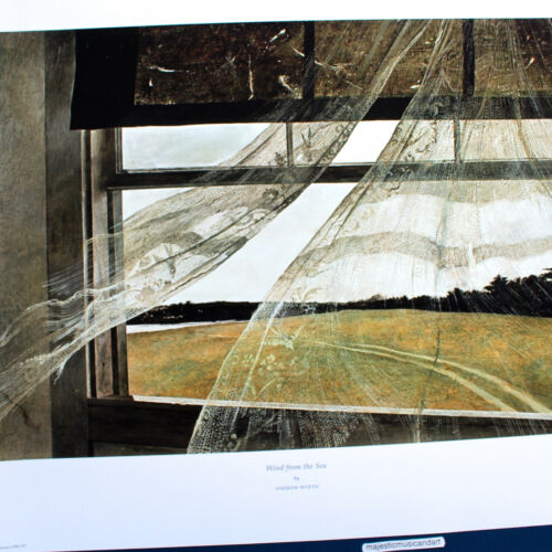 ANDREW WYETH WIND ORIGINAL 2016 LITHOGRAPH POSTER