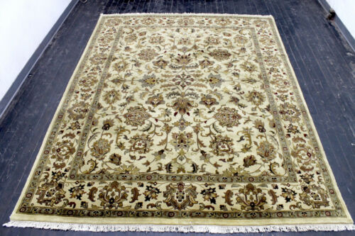 8X10 EXQUISITE MINT HAND KNOTTED VEGETABLE DYE WOOL TABRIZZ TURKISH ORIENTAL RUG