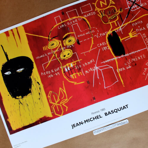 JEAN-MICHEL BASQUIAT 2002 ITALY EXHIBITION LARGE POSTER FLORENCE