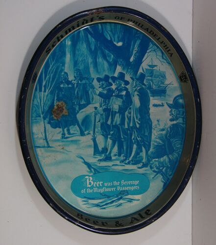 1940s CHRISTIAN SCHMIDT BREWING COMPANY TIN LITHOGRAPH ADVERTISING BEER TRAY