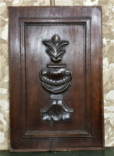 Shell scroll leaf decorative carving panel Antique french architectural salvage