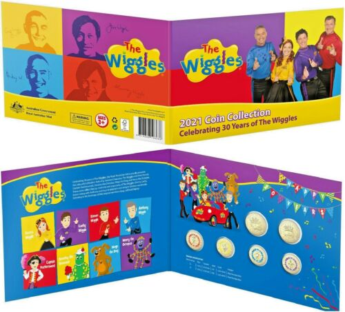 THE WIGGLES 2021 6-COIN SET FOLDER COLLECTION CELEBRATING 30 YEARS
