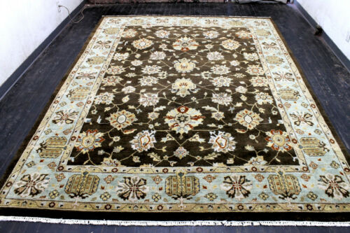 9X12 EXQUISITE NEW HAND KNOTTED WOOL VEGETABLE DYE OUSHAK TURKISH ORIENTAL RUG