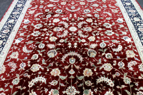 9X12 1960's FINE HAND KNOTTED 300+KPSI VEGETABLE DYE WOOL TABRIZZ ORIENTAL RUG
