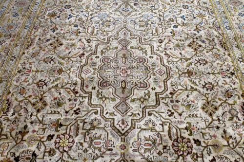 8X11 1930's ANTIQUE HAND KNOTTED VEGETABLE DYE WORN WOOL KASHANN DISTRESSED RUG
