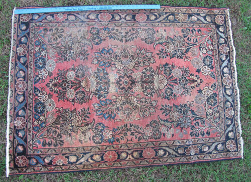 """Tribal Hand Knotted Middle Eastern Sarouk Rug 57"""" x 40"""" #11 yqz"""