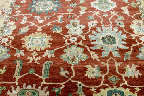 8X8 MASTERPIECE NEW HAND KNOTTED 400KPSI VEGETABLE DYE SQUARE SERAPI TURKISH RUG