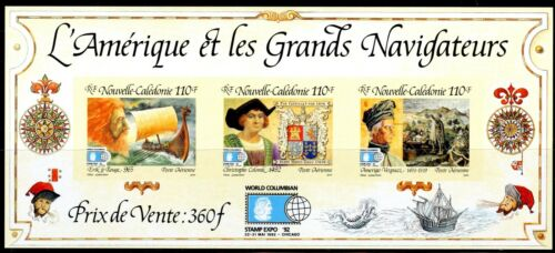 Nouvelle-Calédonie 1992 Christophe Colomb  Stamp Expo 92 ,  Yv BF14  N.D./Imperf