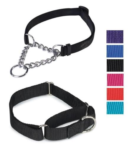 MARTINGALE DOG COLLAR 2 Styles All Sizes Colors Guardian Gear Nylon Chain Choke
