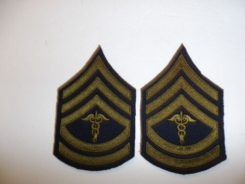 b0725p 1930's-WW2 US Army unofficial Medical Technical Sergeant pair R1DReproductions - 156372