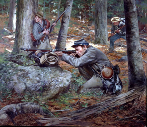 """""""Confederate Sharpshooters"""" Don Troiani Civil War Giclee Canvas"""