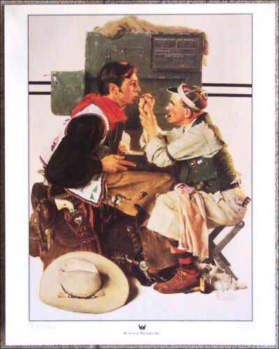 """Gary Cooper as The Texan by Norman Rockwell - 16""""X 20"""" Western Art Museum Print"""