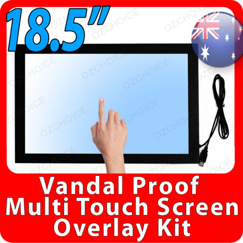 """18.5"""" Vandal and Scratch Proof Multi Touch Screen Overlay Kit for Windows 8 & 7"""