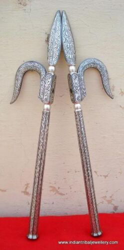 PURE SILVER BIDAREE WORK ANKUSH GOAD DECORATIVE ITEM HANDMADE RAJASTHAN INDIA