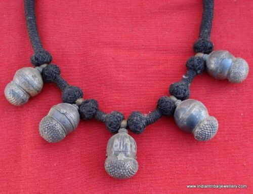 ancient antique old silver jewelry pendant necklace tribal belly dance