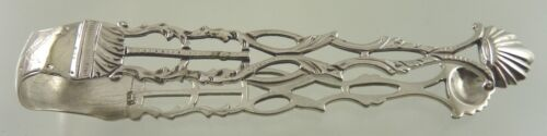 CAST ARM STERLING SUGAR TONGS  BY unknown ENGLISH MAKER 1800'S
