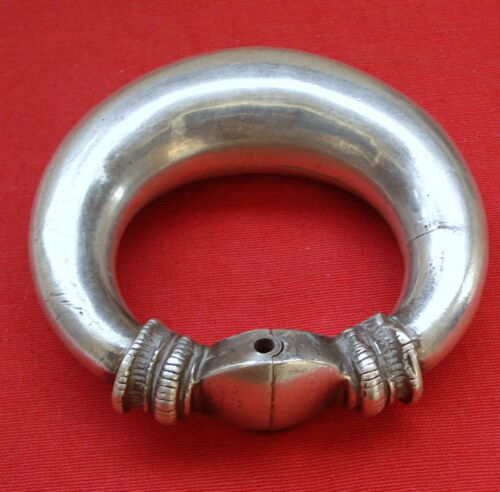 Vintage antique collectible tribal old silver bracelet bangle rajasthan india