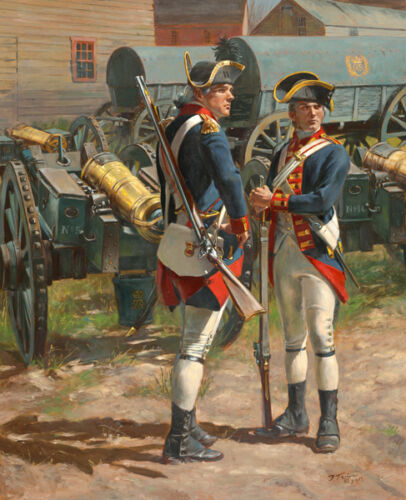 """""""The Royal Regiment of Artillery, 1775"""" Don Troiani Canvas Giclee"""