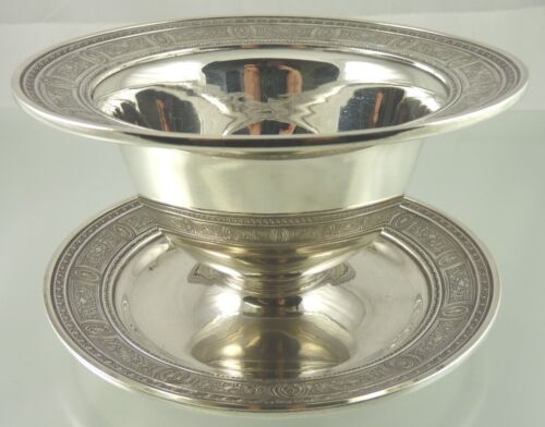 WEDGWOOD STERLING BOWL & STAND G10 BY INTERNATIONAL SILVER CO