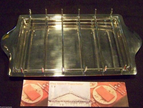SHEFFIELD GEORGIAN REGENCY STYLE SILVER ASPARAGUS SERVING TRAY SET WITH RACK