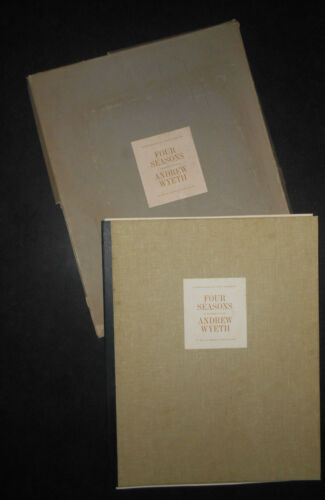 1960s FOUR SEASONS. ANDREW WYETH 8 LOOSE REPRODUCTIONS IN BOOK **