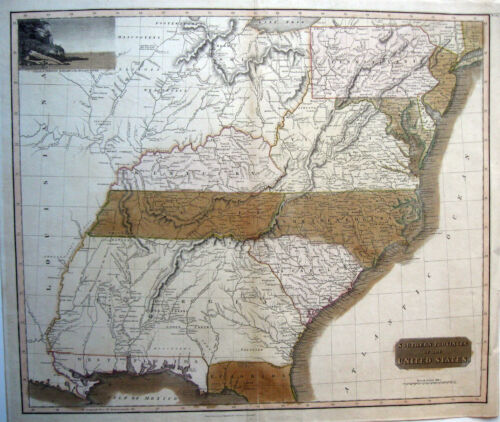 1817 SOUTHERN PROVINCES OF THE UNITED STATES * THOMSON W.Florida GENUINE ANTIQUE